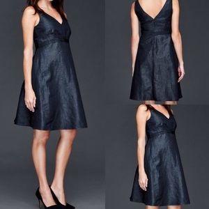 GAP Double V Chambray Blue Linen Dress